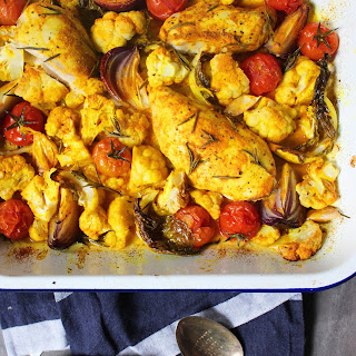 One Tray Turmeric Chicken
