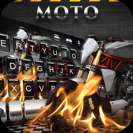 Cool Moto Emoji Keyboard Theme