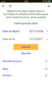 Calcul date - náhled