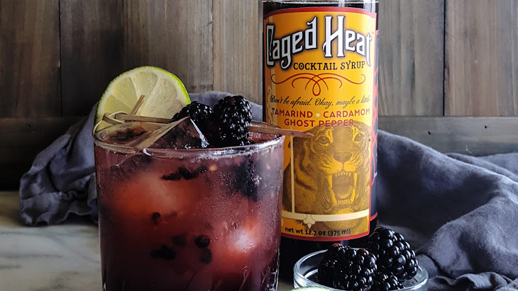 Midsummer's Heat | A Spicy Blackberry Bourbon Smash featuring Caged Heat Cocktail Syrup