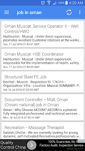 Job vacancies in Oman - náhled
