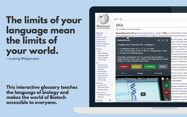 Glossary - Learn the Language of Biology