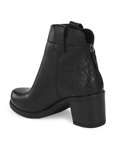 Delize Black Ankle Length Best Chelsea Boots For Women