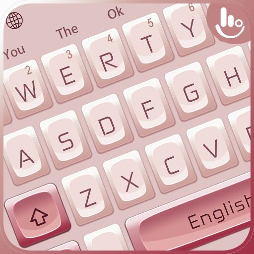 Pink White Mechanical Keyboard Theme