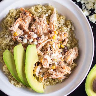 Simple & Healthy Chicken Fiesta Quinoa Bowl.