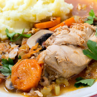Slow Cooker Chicken Stew with Vermouth.