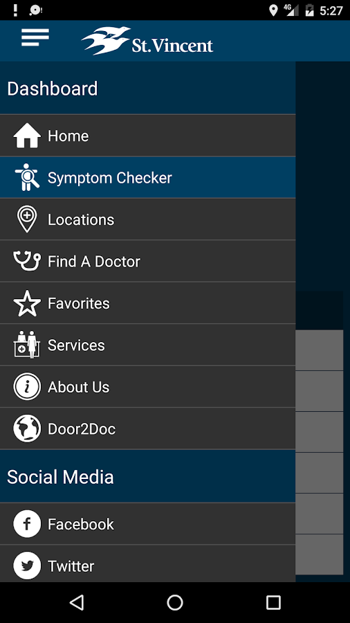 "St.Vincent Health ""Caring""- screenshot"