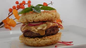 Spicy Asian Ramen Burgers