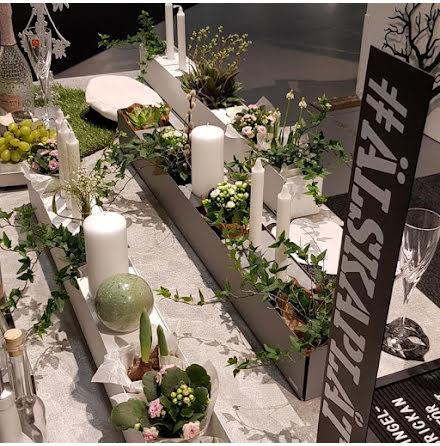 Dekorlåda med låg kant 2 längder vit eller betonggrå