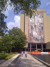 Photo: Jesus mural. Notre Dame campus, South Bend IN YRE
