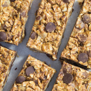 No-Bake Almond Butter & Chocolate Oatmeal Bars