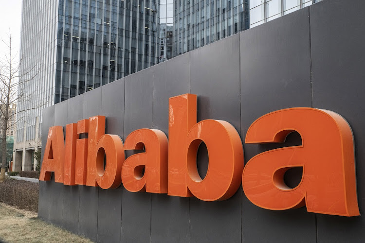 An Alibaba Group Holdings sign outside the company's offices in Beijing, China, January 30 2019. Picture: GILLES SABRIE/BLOOMBERG