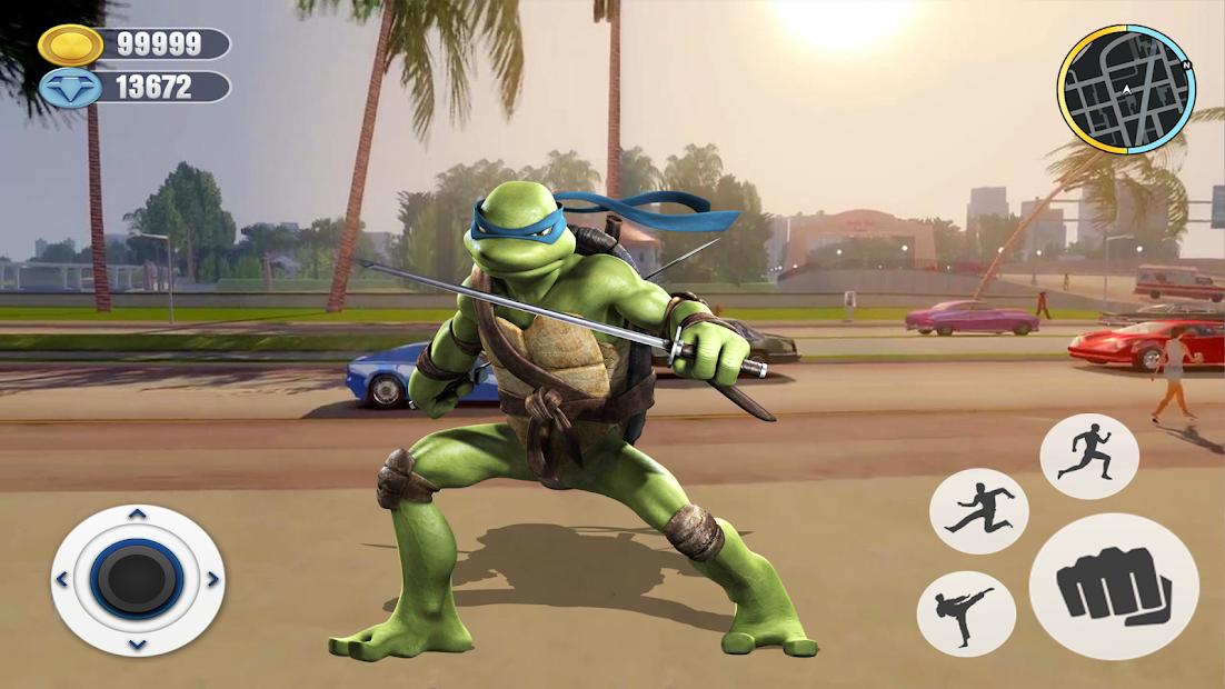 Adventure Turtle Hero Spider Ninja Rope Hero