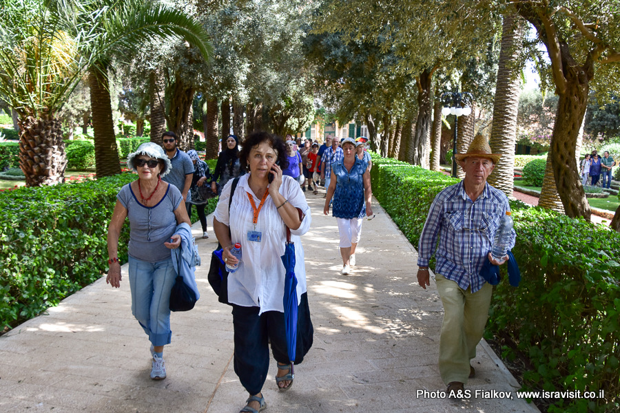 Гид в Израиле Светлана Фиалкова. Экскурсия в Бахайских Садах в Хайфе.