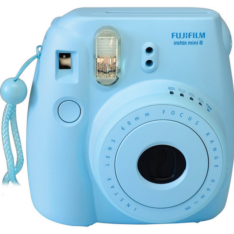 Bundle FUJIFILM Instax Mini 8 Camera Blue Rilakkuma Film Pack