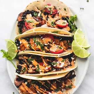 Shrimp or Chicken Lentil Tacos.