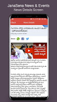 screenshot of JanaSena News & Events