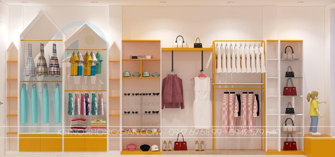 thiết kế shop mẹ và bé nhím store 13