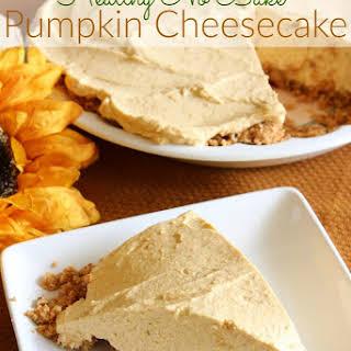 Healthy No Bake Pumpkin Cheesecake.