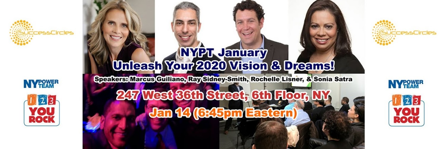 NYPT January - Unleash Your 2020 Vision & Dreams! Breakthrough Workshop & Panel