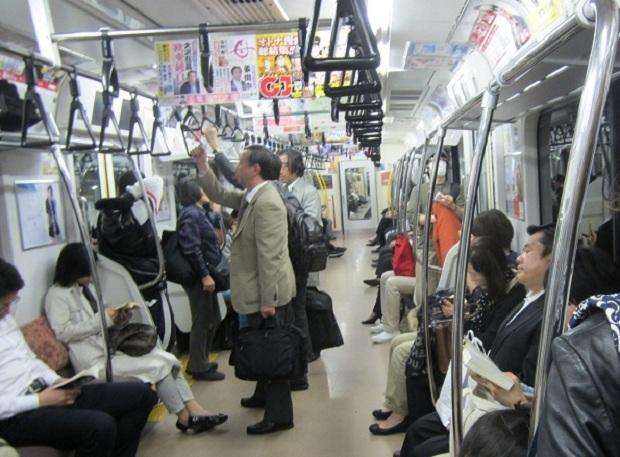 Image result for trên xe bus Nhật