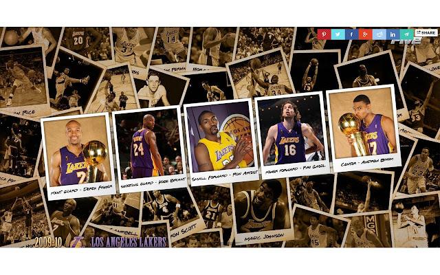 LA Lakers Tab