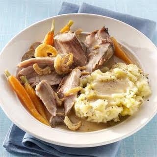 Savory Mushroom & Herb Pork Roast.