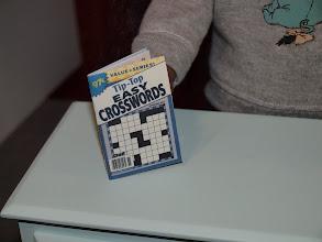 Photo: Crossword puzzle book.