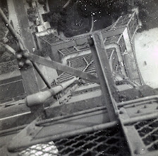 Photo: Paris on Midshipman cruise USS Wisconsin 1953. Outside the rail for image. Bet you can't do that now.