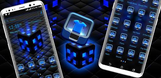 Blue Lighting Cube Launcher Theme APK [1 0] - Download APK