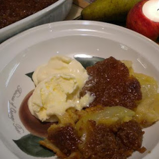 Toffee And Pear Pudding