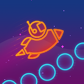 Take Me To Mars - glow stickman