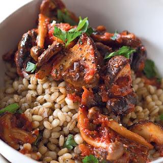 Smoky Mushroom Stew With Barley.
