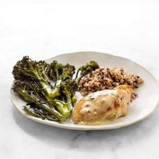 Roast Chicken with Parmesan-Herb Sauce