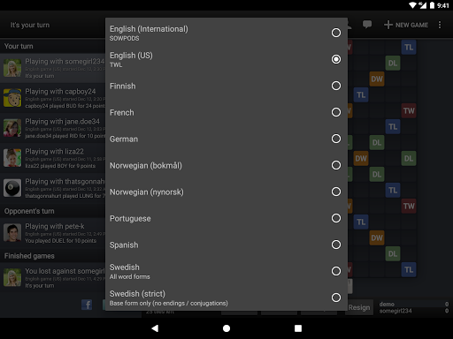 Wordfeud Free 2.18.24 screenshots 12