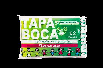 Tapaboca Pediatrico   Inverfarma Rosado x 12Und