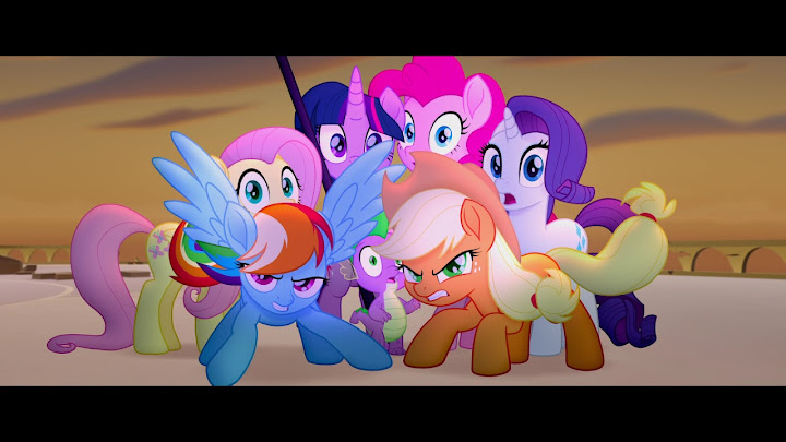 A Dark Force Threatens Ponyville And The Mane  Twilight Sparkle Applejack Rainbow Dash Pinkie Pie Fluttershy And Rarity Embark On An