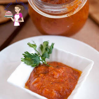 Roasted Red Pepper Garlic Tepenade.