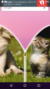 หน้าจอล็อคซิป แมว Vs สุนัข - náhled