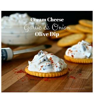Cream Cheese Garlic & Onion Black Olive Dip.