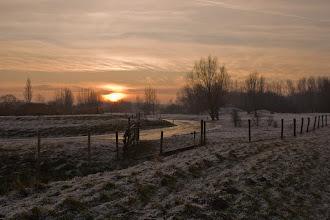 Photo: Landschappen Winter met rijp op de struiken. Foto: Henk van Schie.