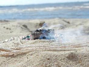 Photo: Erdheilungsritual am Strand von Tallin