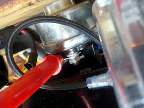 Photo: Just an back shot of the ignition switch with one of my multimeter leads in place.