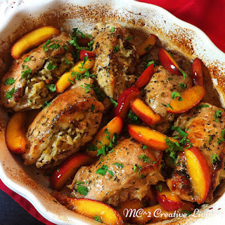 Stuffed Pork Chops with Nectarines