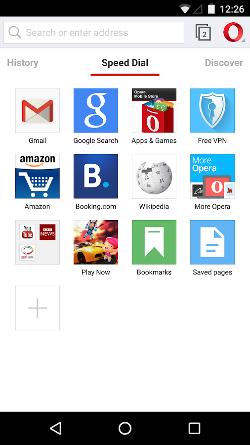 Opera browser beta- screenshot