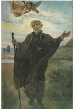 Photo: Współczesny obrazek o wym. 6.5 x 10.5 cm. Na odwrocie napis: Św. Andrzej Bobola - Jezuita kapłan i męczennik (1591-1657) Sanktuarium Świętego Andrzeja Boboli znajduje się w Warszawie na Mokotowie, przy ul. Rakowieckiej 61.