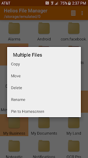 Helios File Manager- screenshot thumbnail