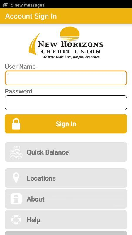 NEWHCU Mobile Banking- screenshot