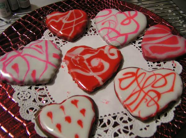 Glazed Chocolate Fudge Cut Out Cookies - Dee Dee's