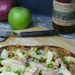 BBQ Chicken, Apple & Cheddar Pizza.
